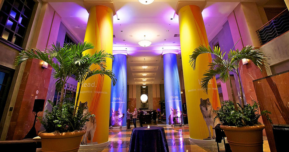 Corporate Event - Fabric Wrapped Pillars