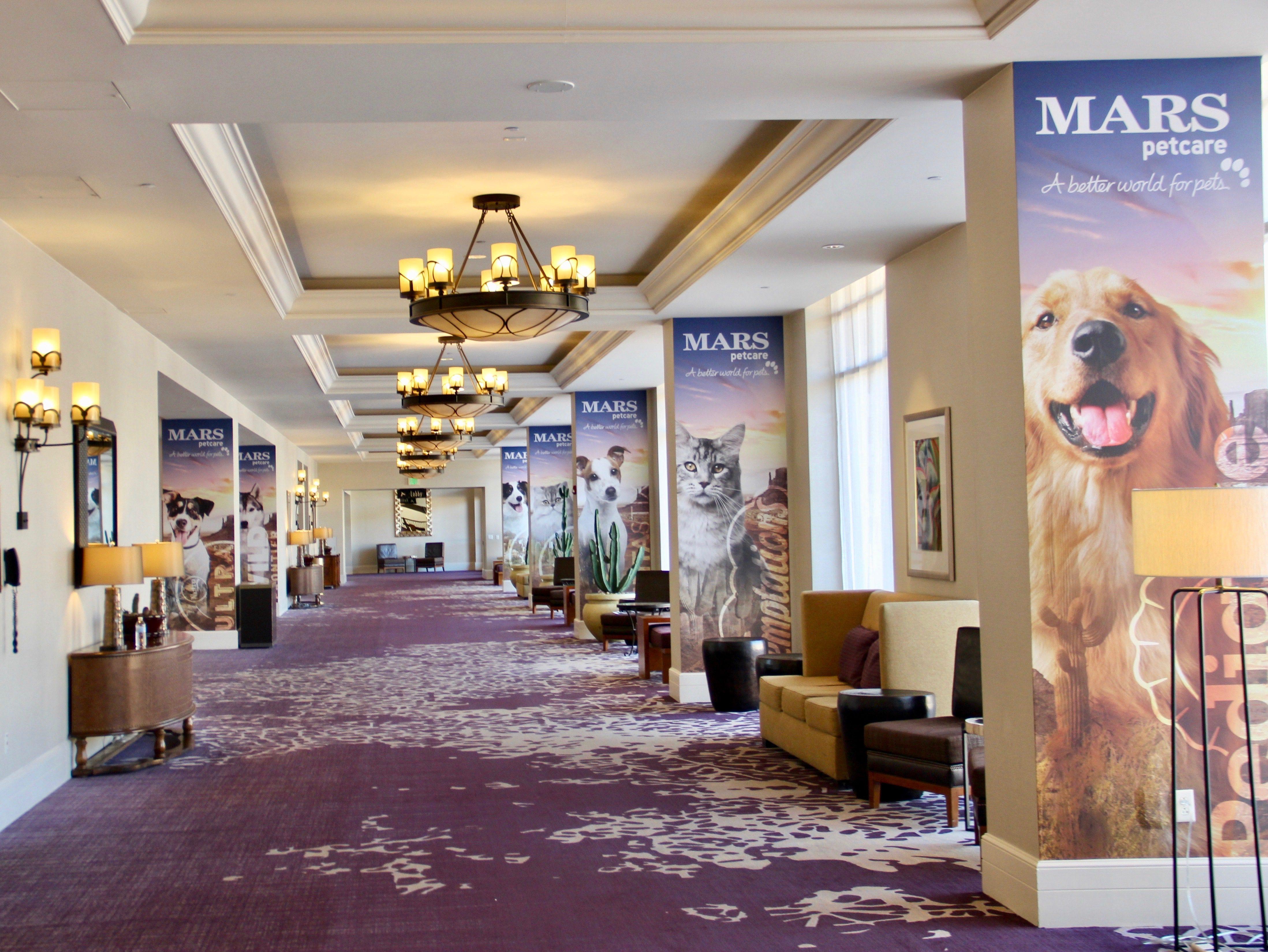 Mars Pet Show lobby Signage