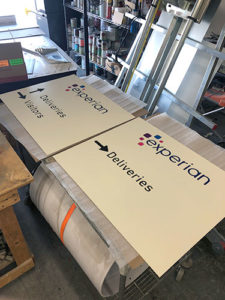 Experian Signage Production